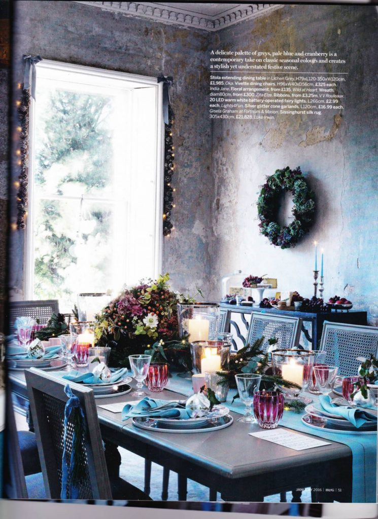 Zita Elze Homes and Gardens Xmas 15 1