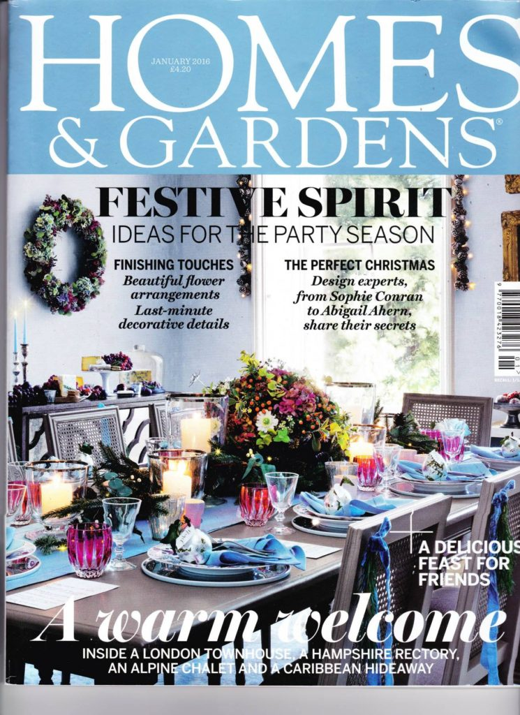 Zita Elze Homes and Gardens Xmas 15 front cover
