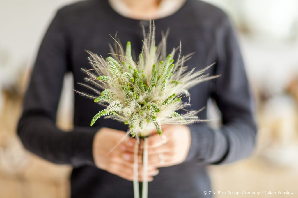 Zita Elze Design Academy Yejina Kim bridal bouquet stipa photo: Julian Winslow