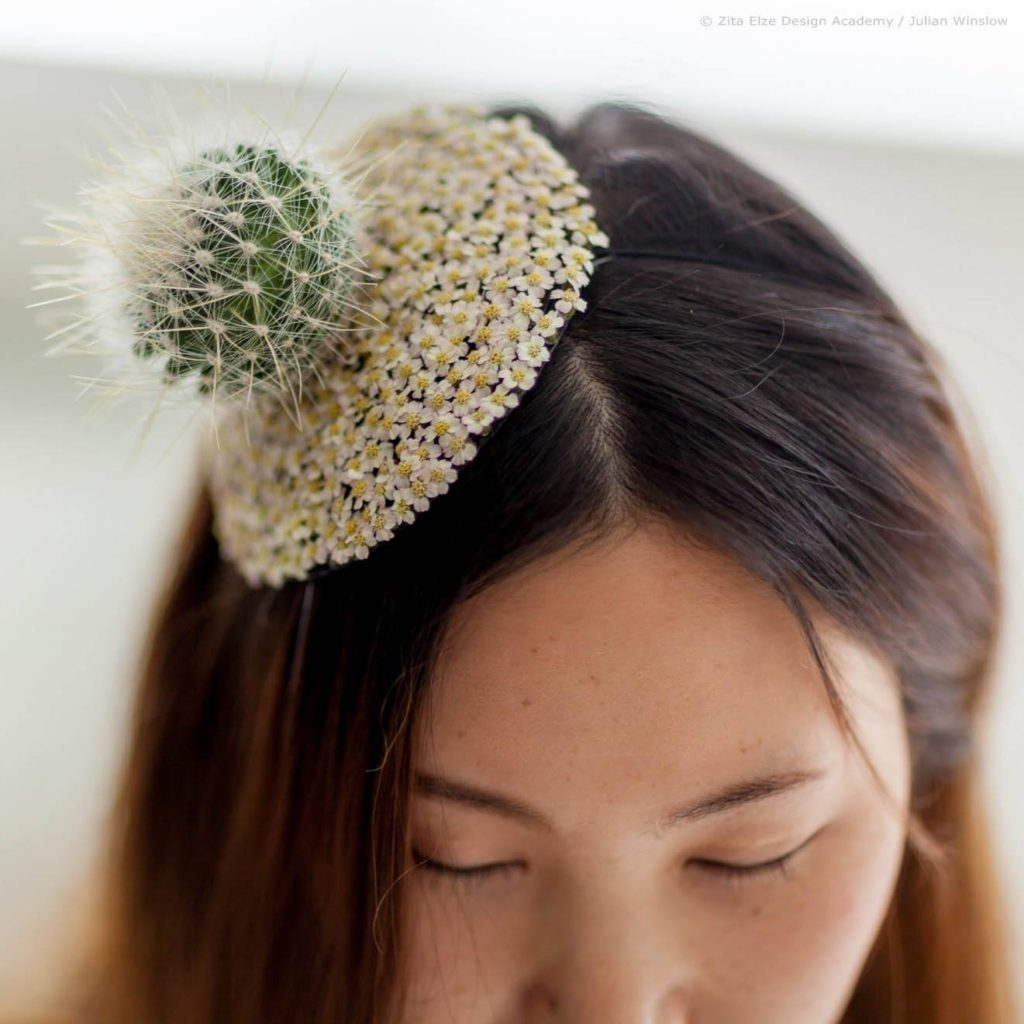 Zita Elze Design Academy Yejina Kim achillea and cactus couture headdress photo: Julian Winslow 6218-s wm