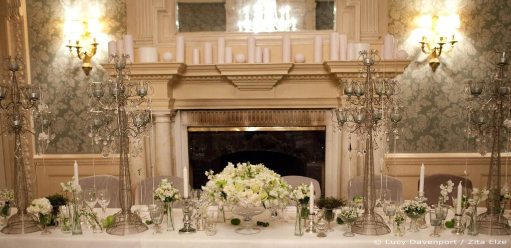 Zita Elze Wedding Flowers at Claridges Photo: Lucy Davenport 425 c w wm