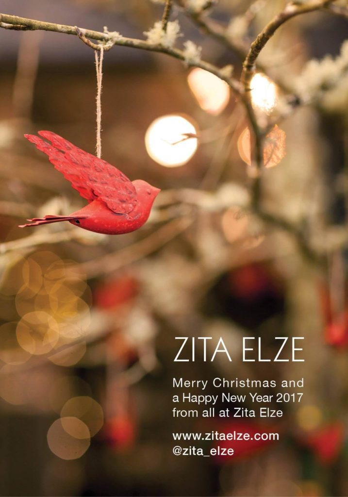 Zita Elze Christmas Greetings 2016