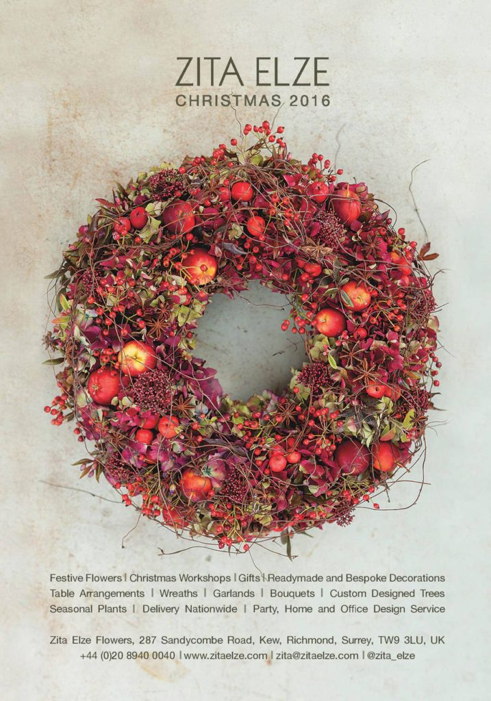 Zita Elze Christmas Card 2016 red wreath