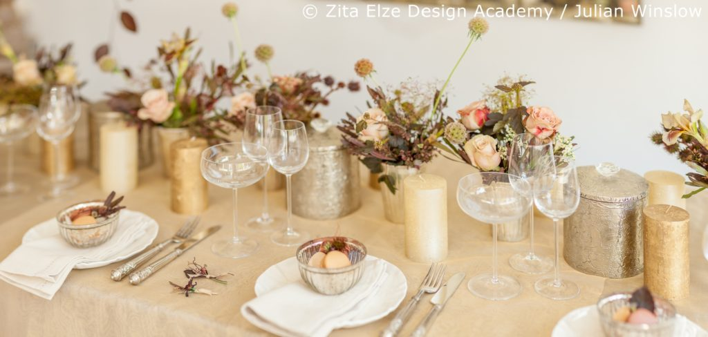 Zita Elze Design Academy Kwak Eun Seo Vintage style top table Wedding Master Class photo: Julian Winslow