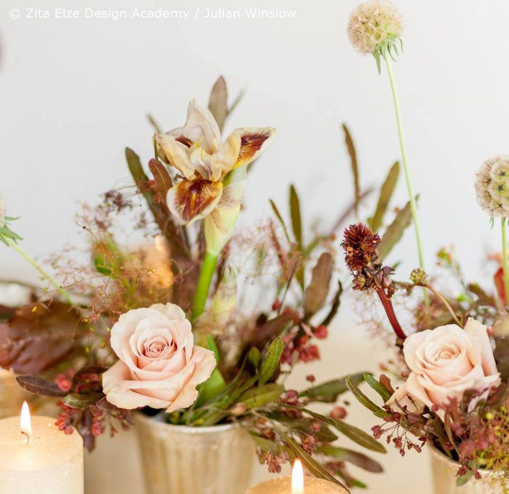 Zita Elze Design Academy Kwak Eun Seo top table floral details Wedding Master Class photo: Julian Winslow