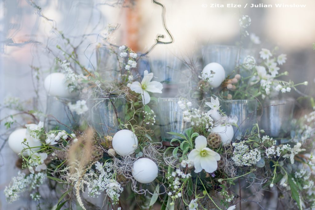Zita Elze Easter Flowers window display with floral chandelier Photo: Julian Winslow 5949_wm