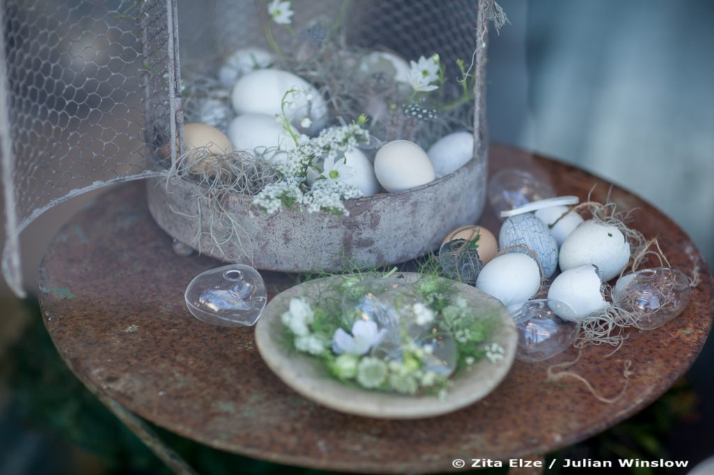 Zita Elze Flower shop display, still life with eggs and flowers for Easter Photo: Julian Winslow LP-19_wm
