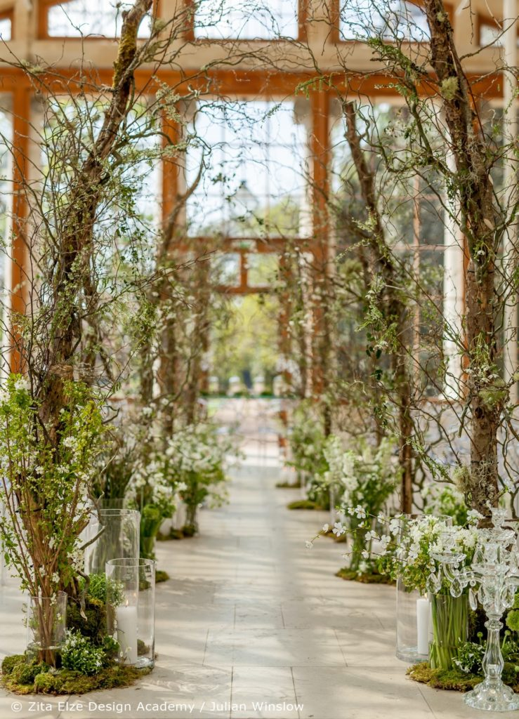 Zita Elze Design Academy Kew Gardens Advanced Wedding Design ceremony space photo: Julian Winslow 6747_c-wm