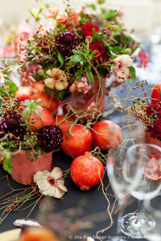 Wedding Stories Advanced Wedding Design Master Class Reception flowers and fruit in Kew Gardens with Zita Elze Design Academy, Photography: Julian Winslow LP35_wm