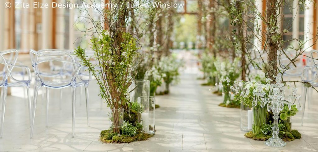 Zita Elze Design Academy Kew Gardens Advanced Wedding Design ceremony space photo: Julian Winslow LP-73_wm