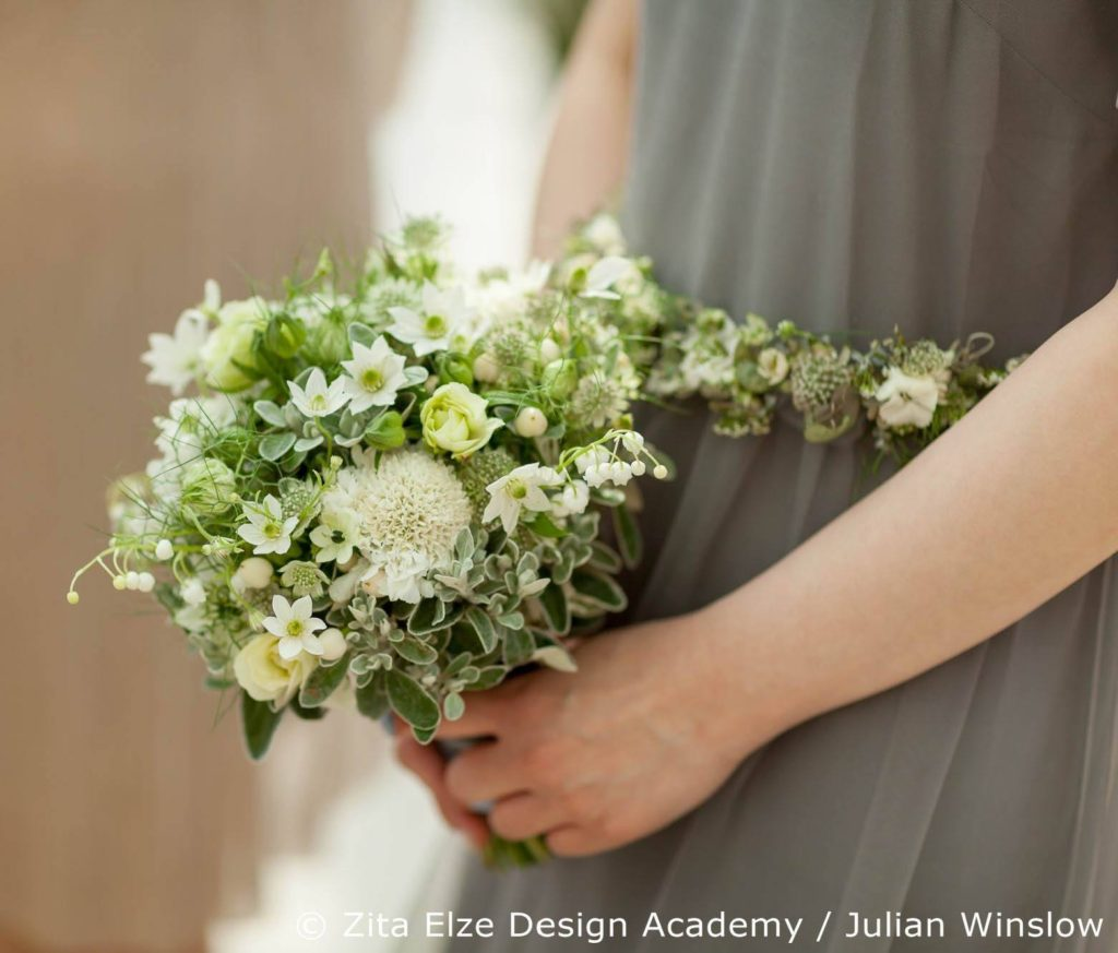 Zita Elze Design Academy project at Kew Gardens' Nash Conservatory Bride's bouquet design Photo: Julian Winslow 7029c