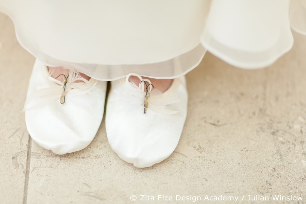 Zita Elze Design Academy project at Kew Gardens' Nash Conservatory embellished Little Bevan ballet shoes Photo: Julian Winslow