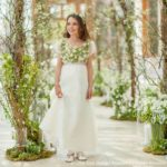 Zita Elze Wedding Design Academy project at Kew Gardens' Nash Conservatory bridesmaid's dress by Little Bevan embellished with floral embroidery Photo: Julian Winslow L112