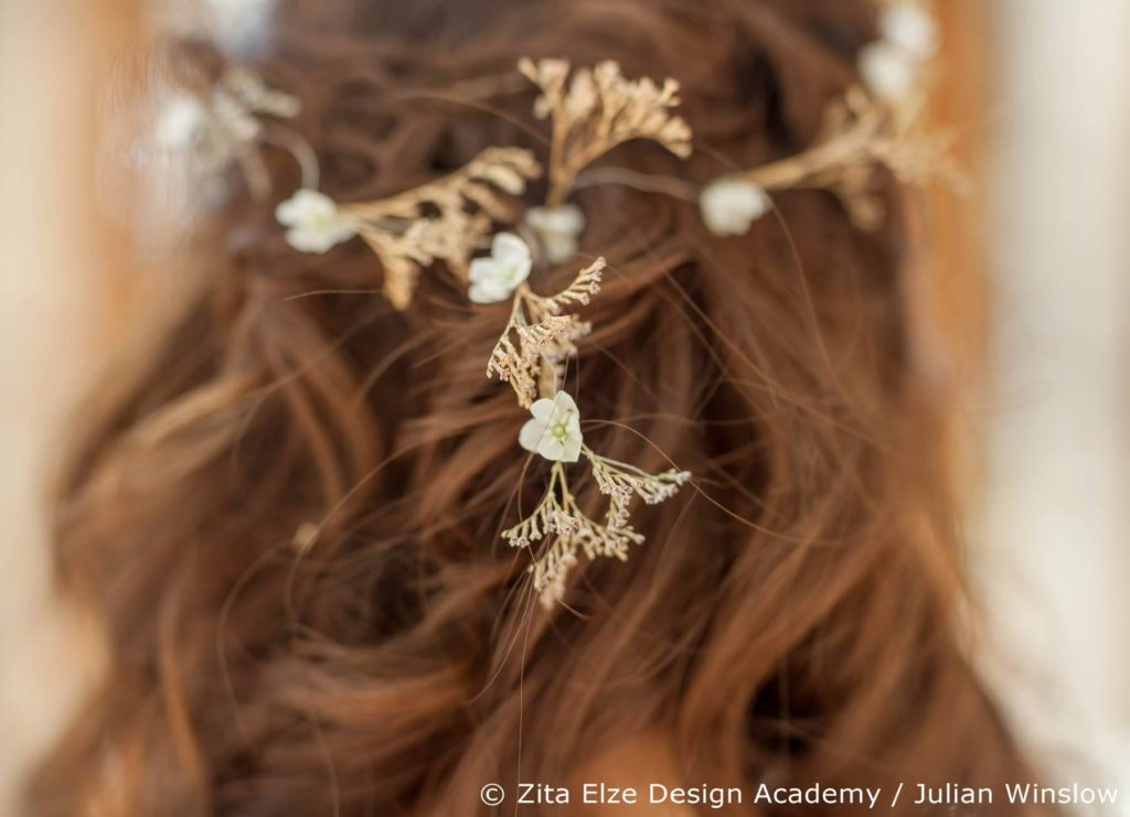 Zita Elze Design Academy project at Kew Gardens' Nash Conservatory Bride's headdress design Photo: Julian Winslow L159