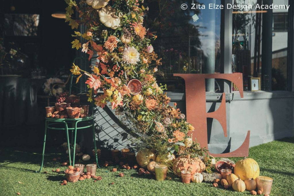 Zita Elze Design Academy Autumn Floral Arch photo: Minjoo Son Oct 2017 157_wm