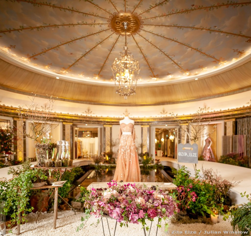 Zita Elze Aashni Wedding Show 2019 in the Dorchester ballroom, interior set and flowers by Zita Elze, pic Julian Winslow LP-44_wm